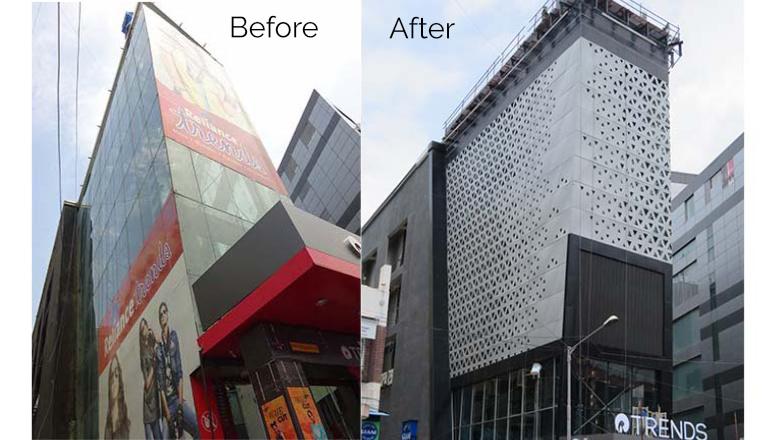 Retail-facades india